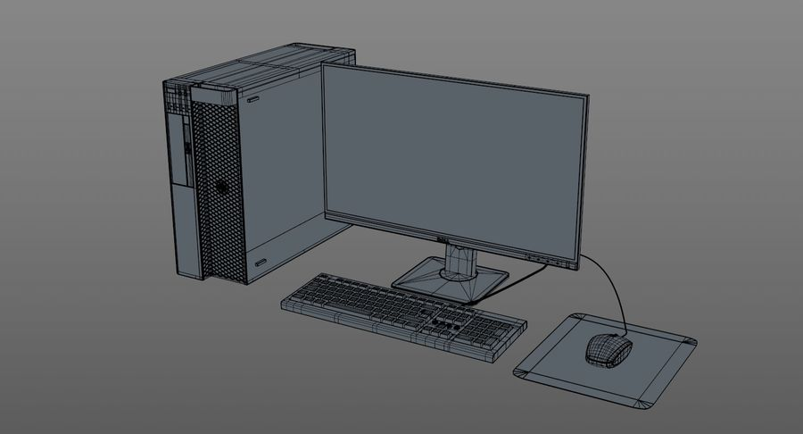 Dell Workstation royalty-free 3d model - Preview no. 12