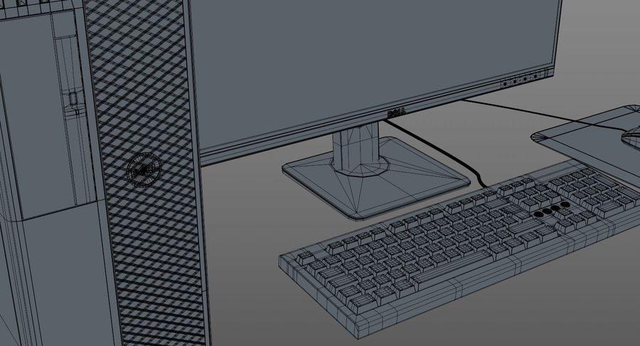 Dell Workstation royalty-free 3d model - Preview no. 16