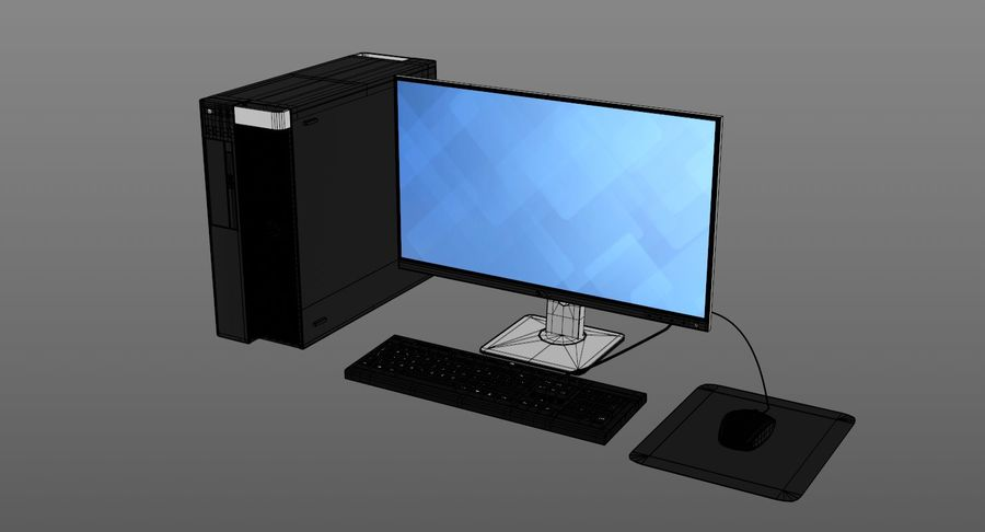 Dell Workstation royalty-free 3d model - Preview no. 11