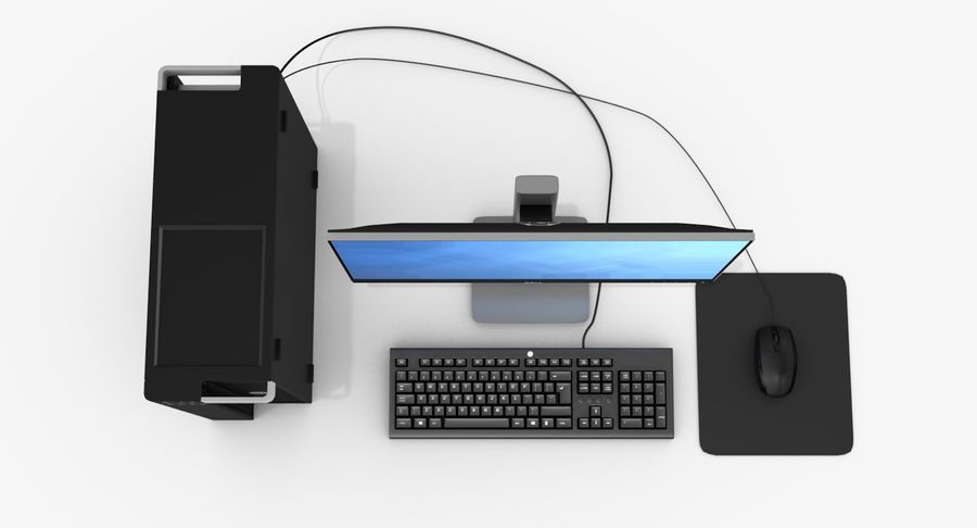 Dell Workstation royalty-free 3d model - Preview no. 6