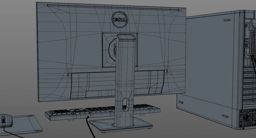 Dell Workstation royalty-free 3d model - Preview no. 14