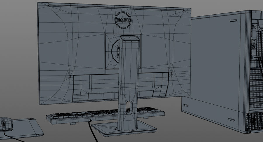 Dell werkstation royalty-free 3d model - Preview no. 14