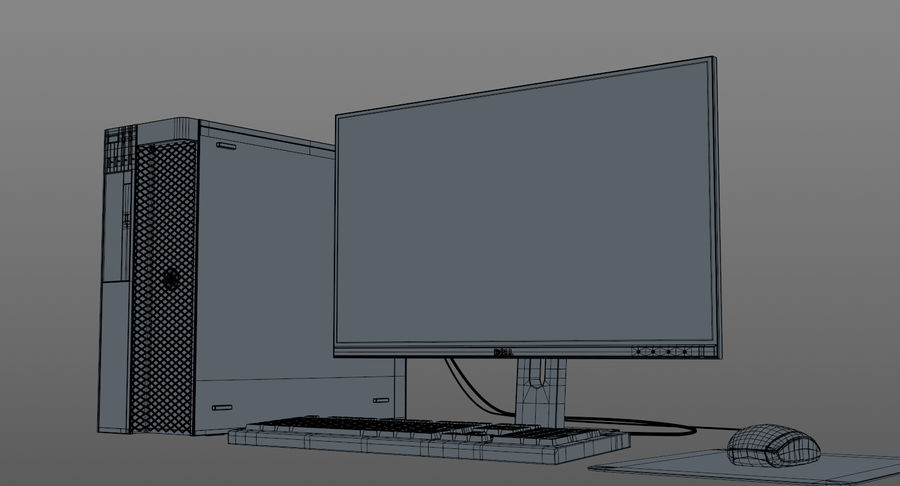 Dell werkstation royalty-free 3d model - Preview no. 13