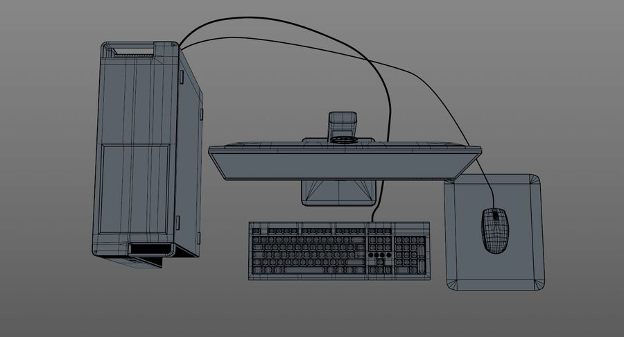 Dell Workstation royalty-free 3d model - Preview no. 15