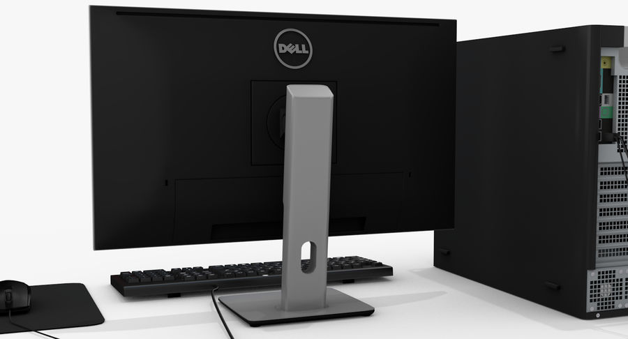 Dell werkstation royalty-free 3d model - Preview no. 5