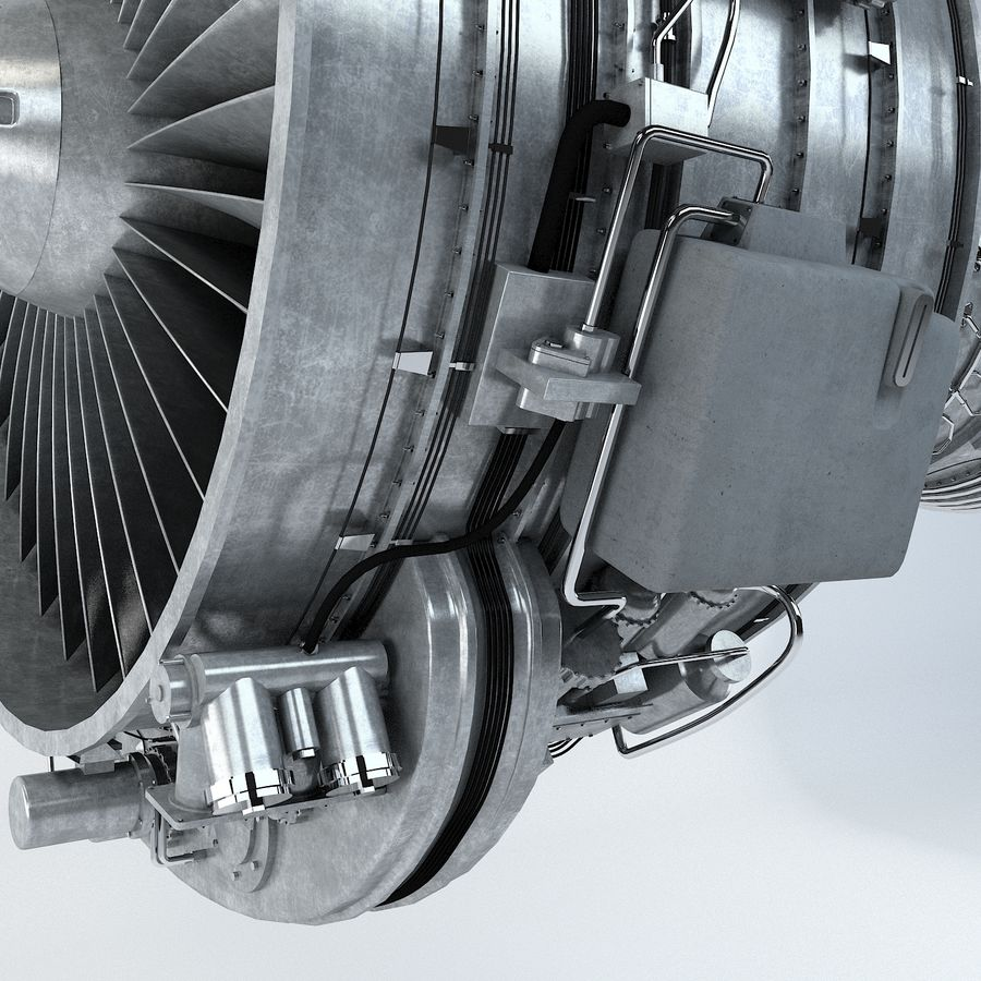 Aircraft Turbofan Engine royalty-free 3d model - Preview no. 5