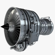 Aircraft Turbofan Engine 3d model