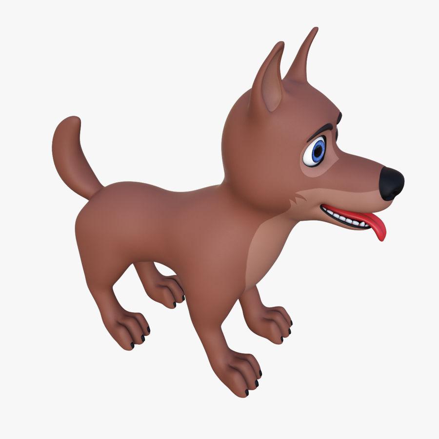 Tecknad hund royalty-free 3d model - Preview no. 10