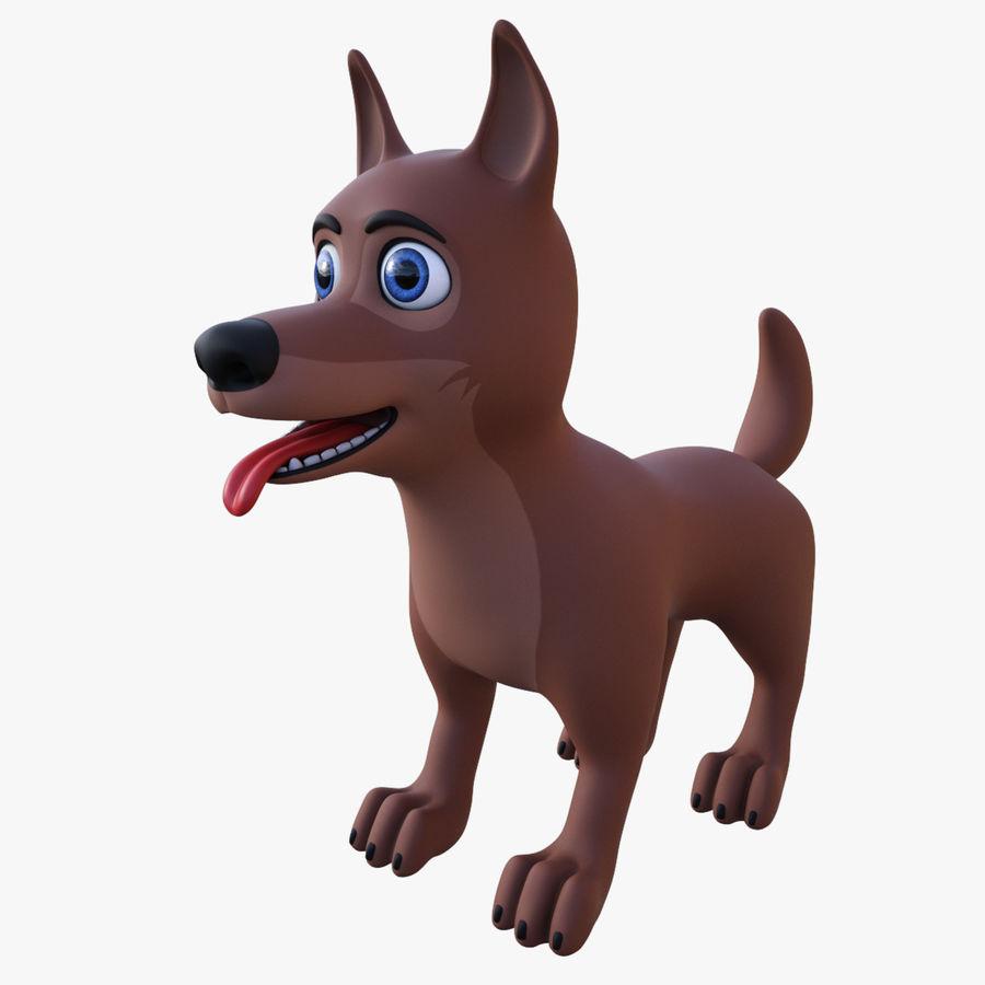 Tecknad hund royalty-free 3d model - Preview no. 5