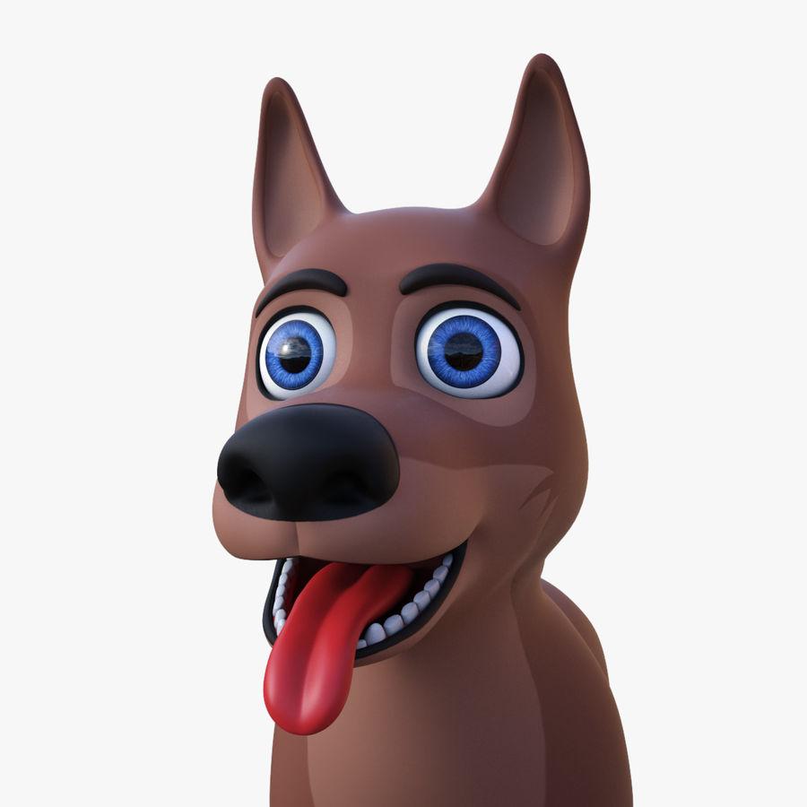 Tecknad hund royalty-free 3d model - Preview no. 13