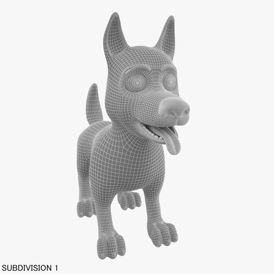 Tecknad hund royalty-free 3d model - Preview no. 20