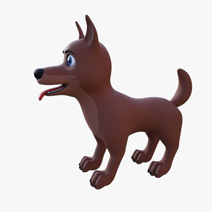 Tecknad hund royalty-free 3d model - Preview no. 6