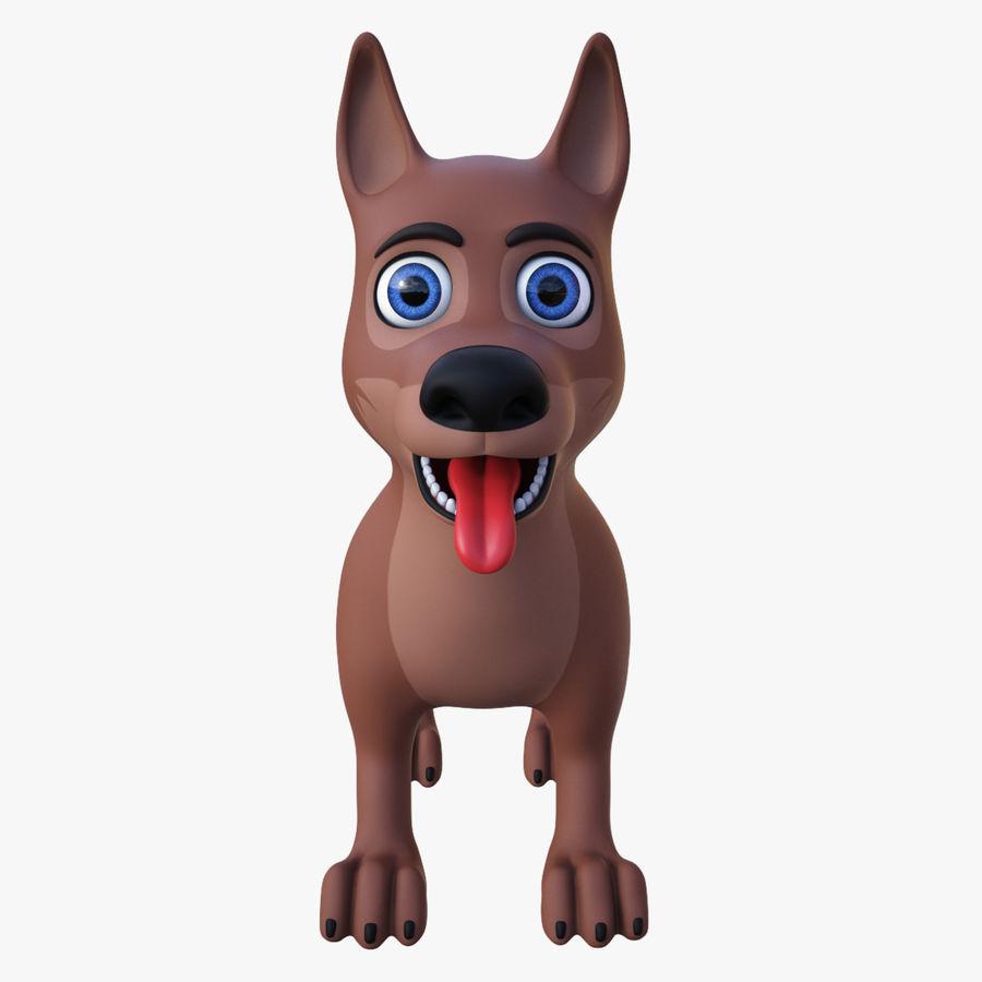 Tecknad hund royalty-free 3d model - Preview no. 4