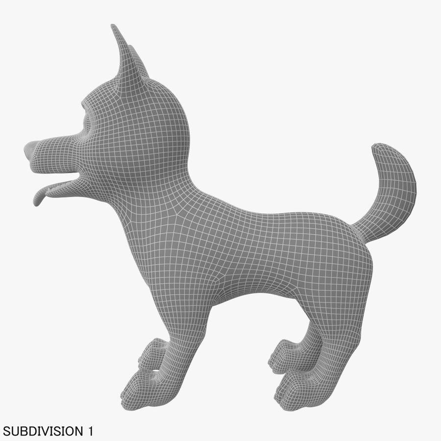 Tecknad hund royalty-free 3d model - Preview no. 21