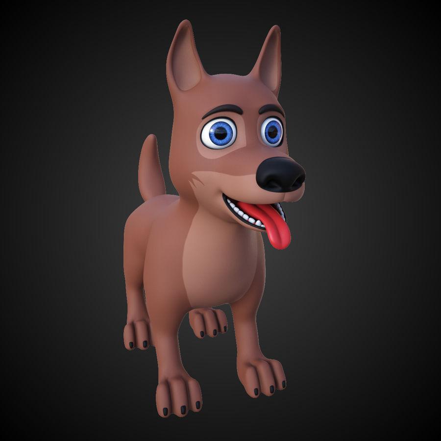Tecknad hund royalty-free 3d model - Preview no. 2