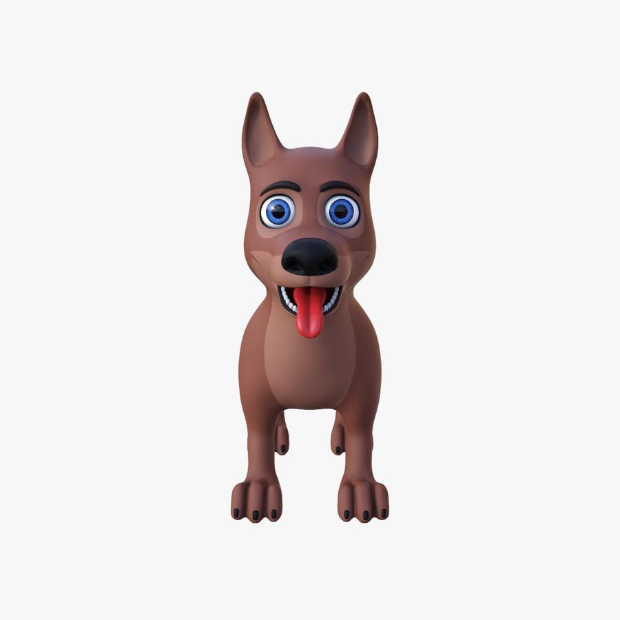 Tecknad hund royalty-free 3d model - Preview no. 3