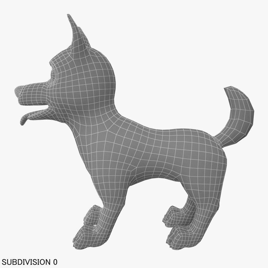 Tecknad hund royalty-free 3d model - Preview no. 17