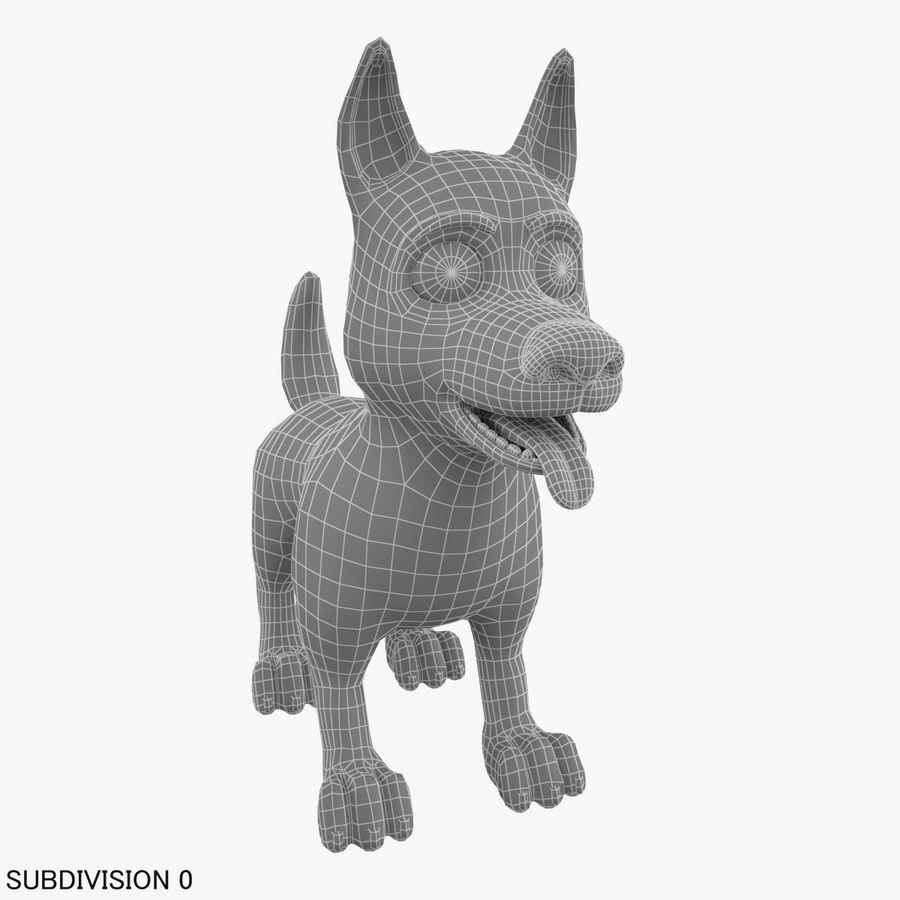 Tecknad hund royalty-free 3d model - Preview no. 16