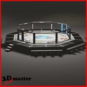HD UFC octagon ring 3d model