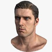 Head Male - Game Ready - Daniel 3d model