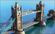 Tower Bridge, London. 3d model