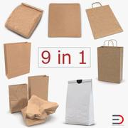 Бумажные пакеты 3D Models Collection 4 3d model