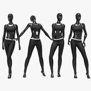 Female sport suit 3 3d model