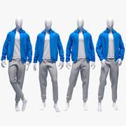 Male sport suit 4 3d model