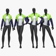 Female fitness sport suit 3d model