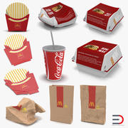 Mcdonalds Packaging Collection 2 3d model