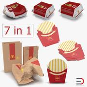 Макдональдс Упаковочная Коллекция 3d model