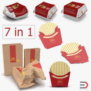 Mcdonalds Packaging Collection 3d model