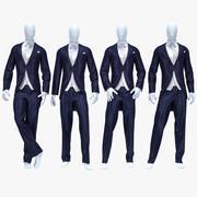 Male suit 7 3d model