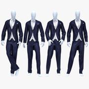 男性スーツ7 3d model