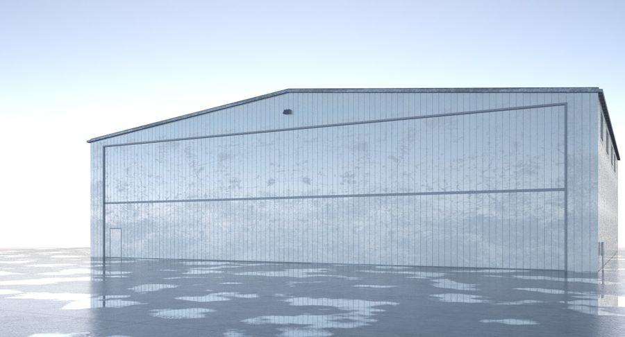 航空機格納庫 royalty-free 3d model - Preview no. 2