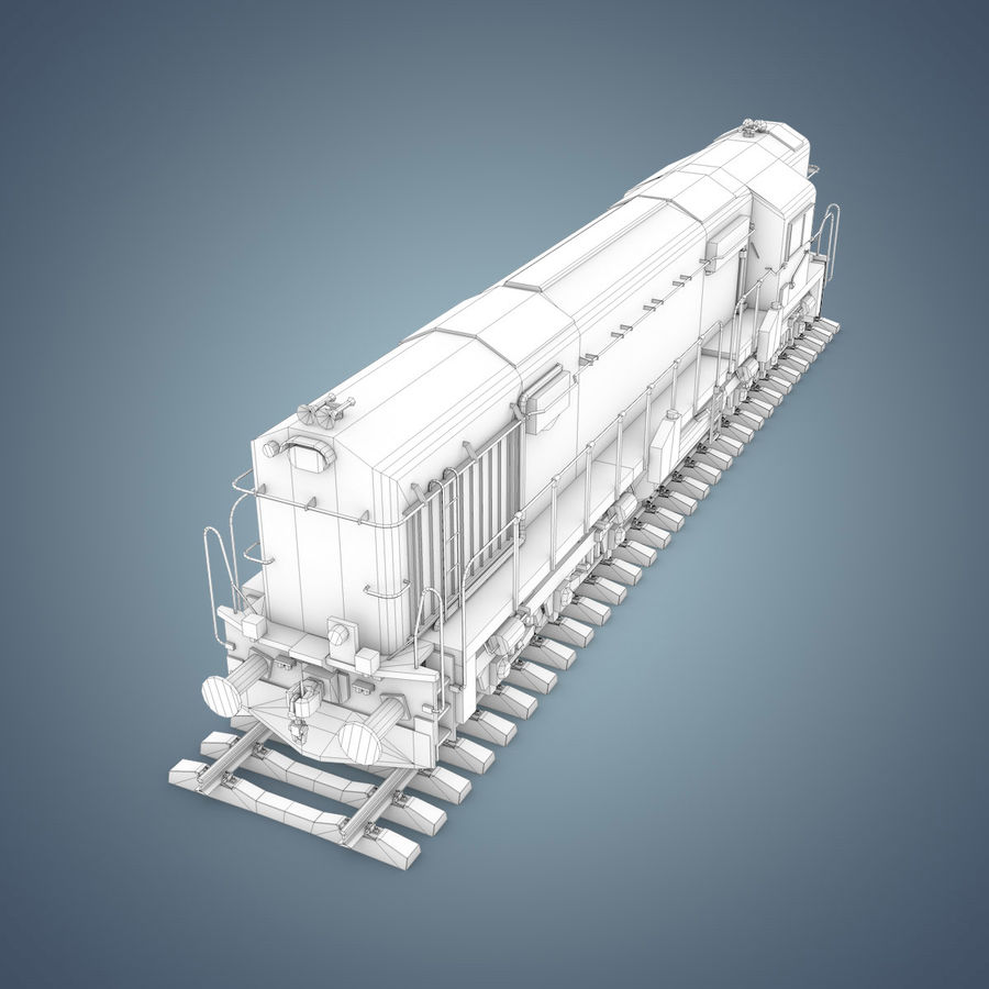 Locomotive royalty-free 3d model - Preview no. 28