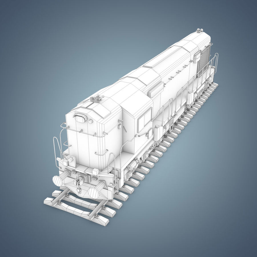 Locomotive royalty-free 3d model - Preview no. 29