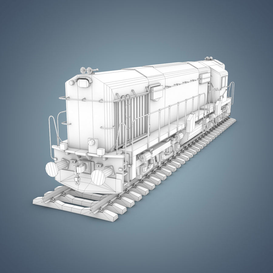 Locomotive royalty-free 3d model - Preview no. 16