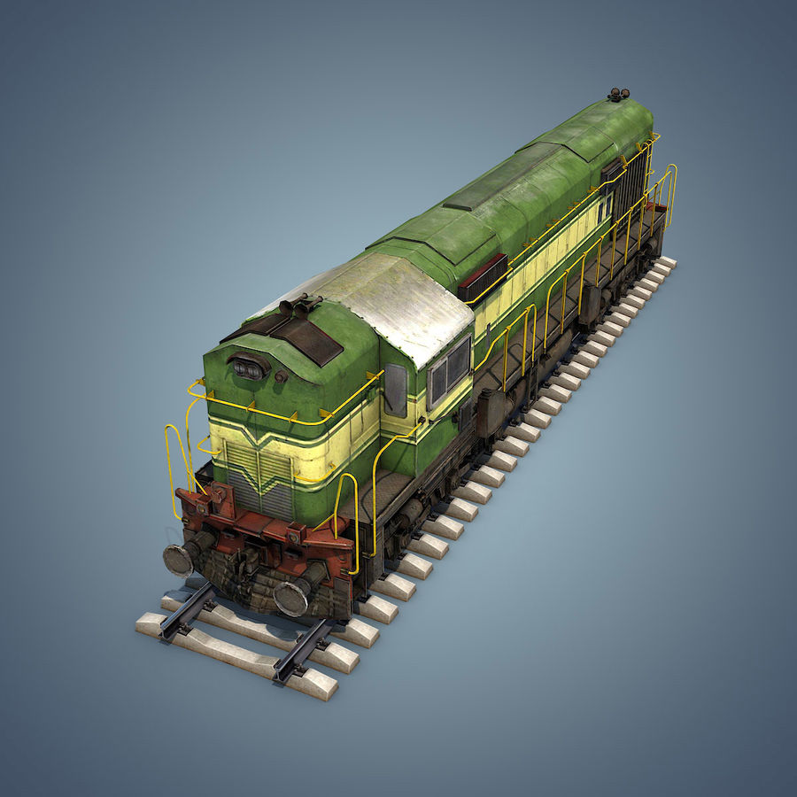 Locomotive royalty-free 3d model - Preview no. 15