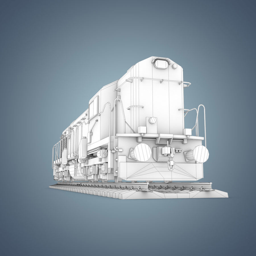 Locomotive royalty-free 3d model - Preview no. 27