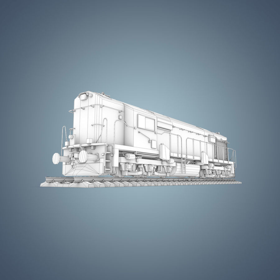 Locomotive royalty-free 3d model - Preview no. 25