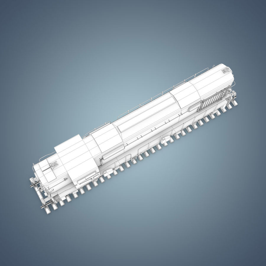 Locomotive royalty-free 3d model - Preview no. 23