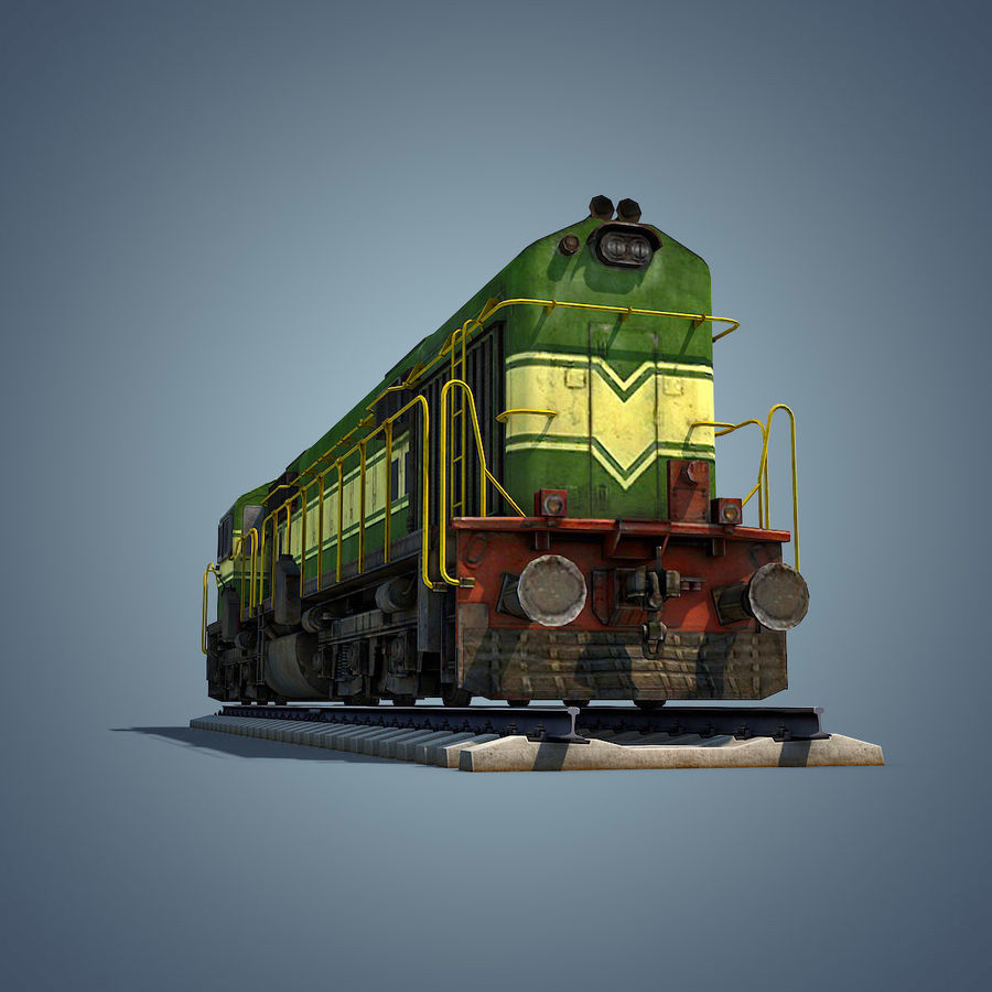 Locomotive royalty-free 3d model - Preview no. 12