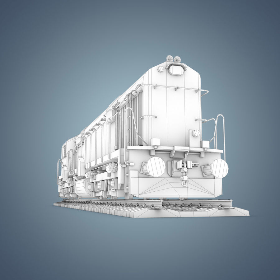 Locomotive royalty-free 3d model - Preview no. 26