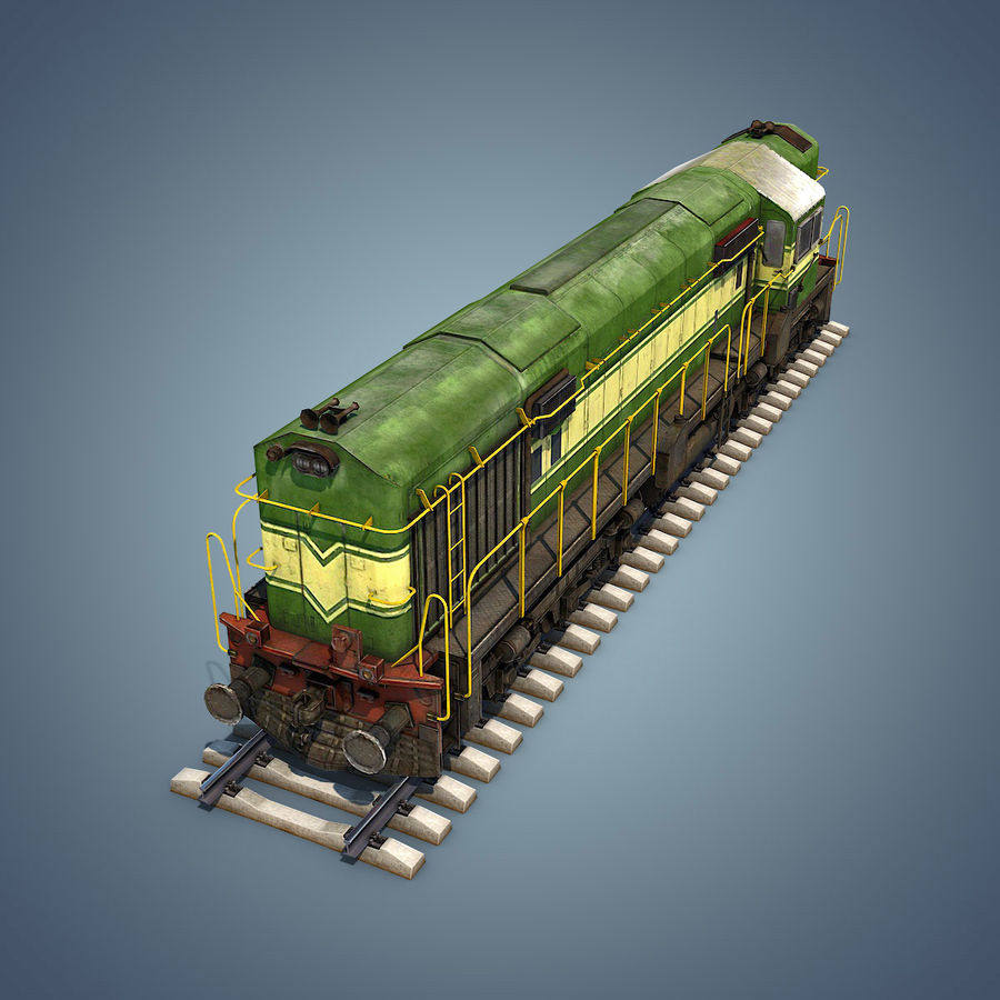 Locomotive royalty-free 3d model - Preview no. 14