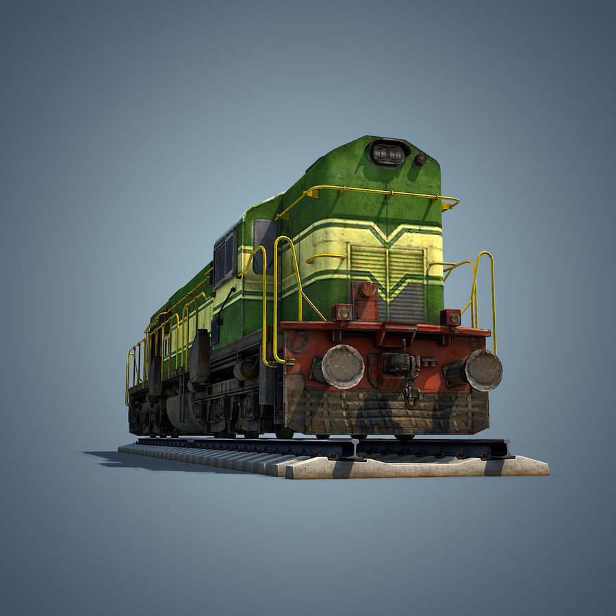 Locomotive royalty-free 3d model - Preview no. 13