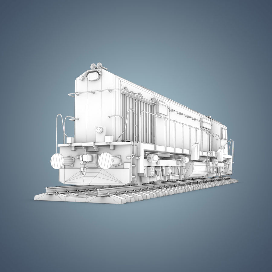 Locomotive royalty-free 3d model - Preview no. 18