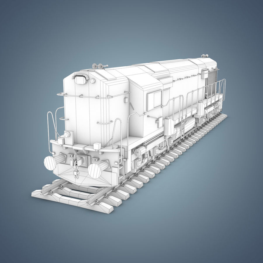Locomotive royalty-free 3d model - Preview no. 17