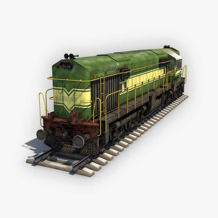 Locomotive royalty-free 3d model - Preview no. 1
