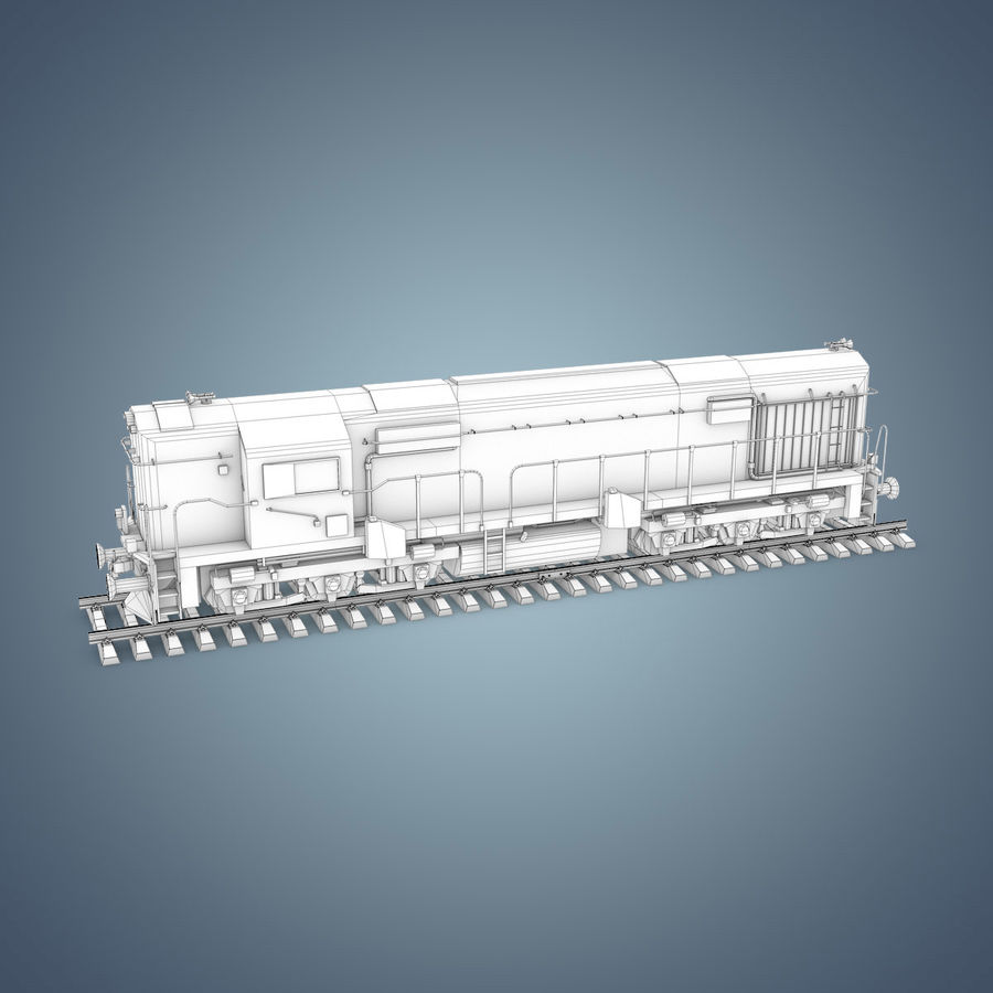 Locomotive royalty-free 3d model - Preview no. 21